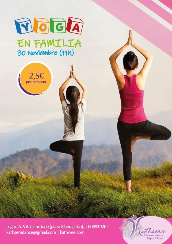 Yoga en familia en Irún