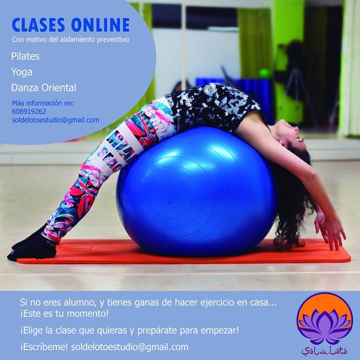Clases Online de Pilates, Yoga y Danza Oriental